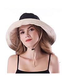 AMAKU Women Large Brim Sun Hats Packable Foldable UV Protection Bucket Hats