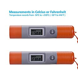 ILamourYou Mini Pen Type LCD Non-Contact Ir Infrared Pen Type Pocket Thermometer Meter