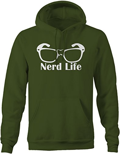 Lifestyle Graphix Nerd Life Taped Glasses Computer Gamer College Hip Sweatshirt - Large
