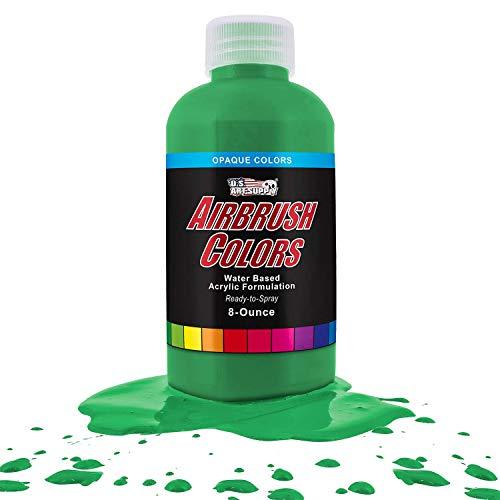 US Art Supply Grass Green Opaque Acrylic Airbrush Paint 8 oz. ()