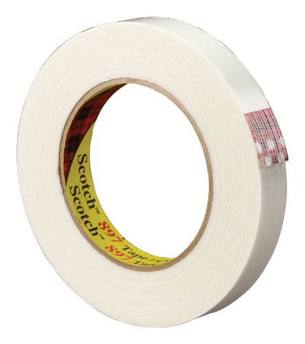 Scotch Filament Tape 897 Clear, 18 mm x 55 m (Pack of 12) from Scotch