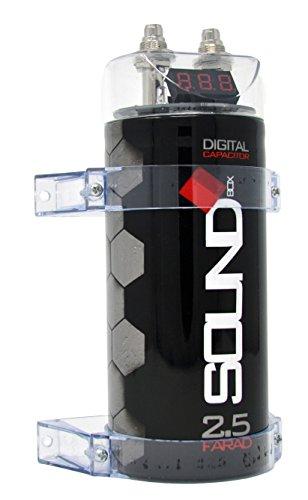 Audio Car Capacitor (SoundBox 2.5 Farad Digital Capacitor - 2500 Watts Peak)