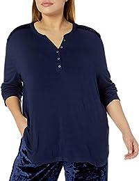 Karen Neuburger Womens Long Sleeve Top Pajama Shirt Pj Pajama Top