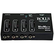 Rolls MX44S Mini Mix IV 1/4 and 1/8 Mixer