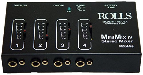rolls MX44S Mini Mix IV 1/4 and 1/8 Mixer (Stereo Mini Mixer)