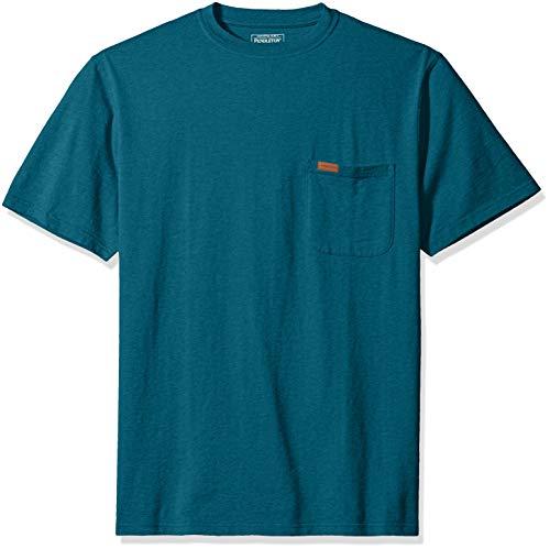 Pendleton Men's Short-Sleeve Deschutes Pocket T-Shirt, Blue Teal Heather, LG