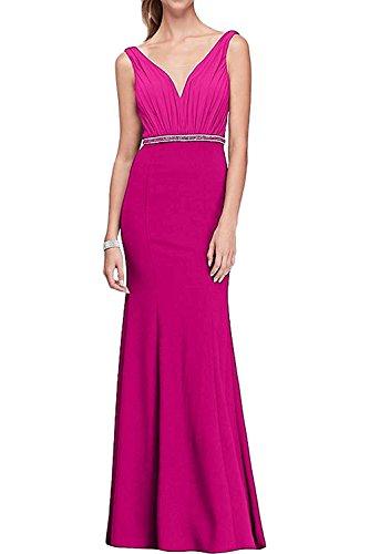 La Marie Braut Navy Blau V-Ausschnitt Trumpet Abendkleider  Brautjungfernkleider Partykleider Lang Pink YJryCi1e 879f779dba