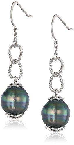 Pearl Rope Earrings (Sterling Silver Tahitian Cultured Pearl Rope Drop)