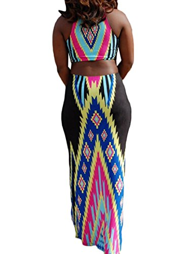 Full Dress Fashional Women Length Ethnic Print Style Coolred Sexy Black Straps n0qTHxfw