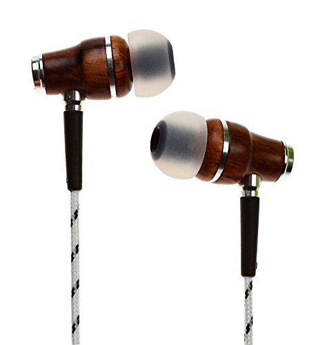 Symphonized NRG Premium Genuine Wood In-ear Noise-isolating Headphones with Mic (Zebra) Noise Reducing Earphones
