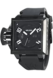 Welder Men's K25B-4502 K25B Analog Black Ion-Plated Stainless Steel Square Watch