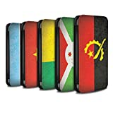 eSwish PU Leather Wallet Flip Case/Cover for Huawei P Smart/Pack 21pcs Design/African Flag Collection