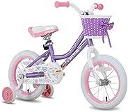 JOYSTAR Angel Girls Bike 12 14 16 18 Inch Kids Bike with Training Wheels for 2-9 Years Old, 18 Inch Kids Bike
