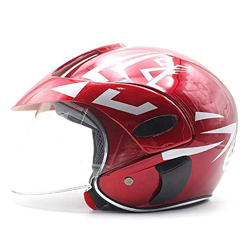 Helmets,motorradhelm Für Kinder Motorrad Harley Batterie Auto Männer Und Frauen Baby Jet-Helm Passend Für Einen…