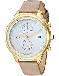 Womens Chandler Quartz Stainless Steel Watch, Color:Beige (Model: FB2002