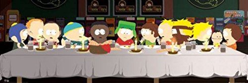 1art1 Posters: South Park Door Poster - The Last Supper (62 x 21 inches)