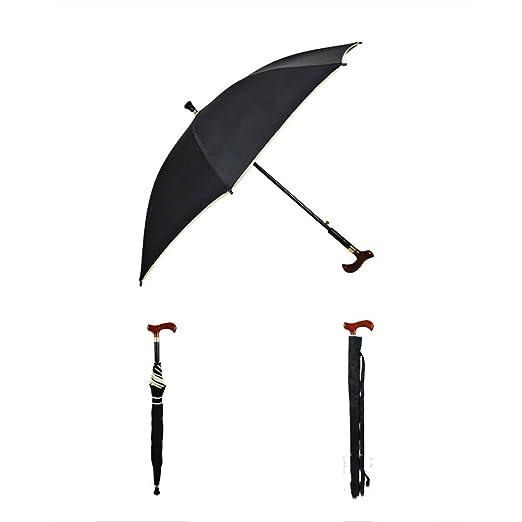 PILIBEIBEI Paraguas 2-en-1 de Bastones - Paraguas de muletas Old ...