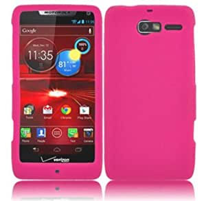 Quaroth - For Motorola Droid Razr M XT907 Silicone Jelly Skin Cover Case Hot Pink