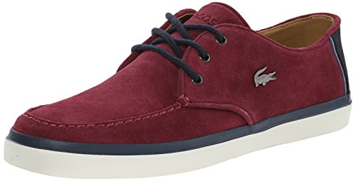 Lacoste Mens Sevrin 9 Fashion Sneaker Dark Burgundy 10 M US