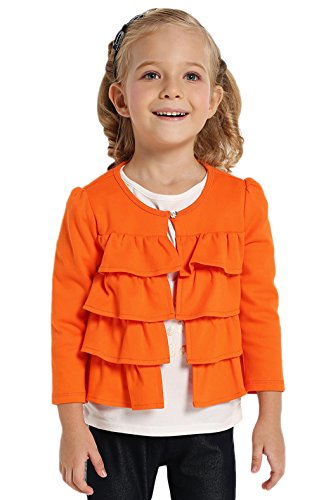 Fanala-Kids-Casual-Round-Neck-Long-Sleeve-Ruffle-One-Button-Solid-Outerwear