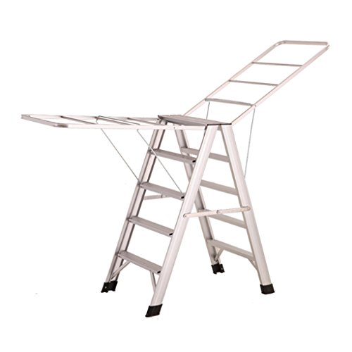 Step Ladder For Heavy People 5 Step, Aluminum Alloy Drying R