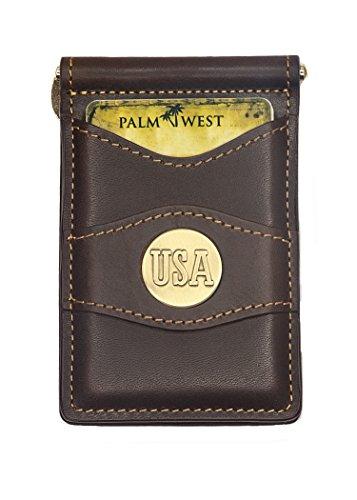 Price comparison product image Palm West 225MUSA-A Men's Premium Leather Money Clip Wallet RFID Blocker
