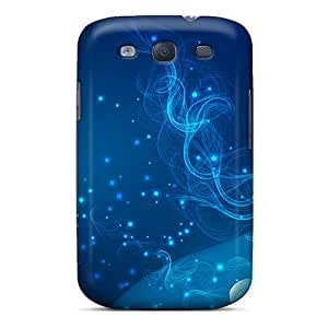 Galaxy Cover Case - Blue Abstract Fractal Protective Case Compatibel With Galaxy S3