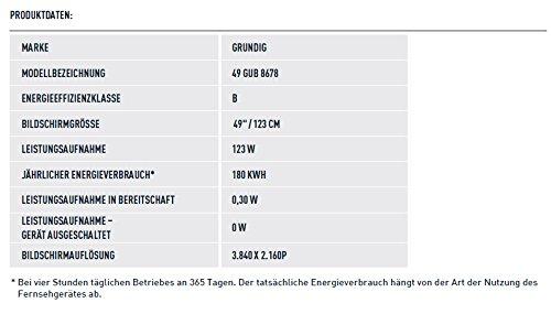 Grundig 49 GUB 8678 124 cm (49 Zoll) Fernseher (Ultra-HD