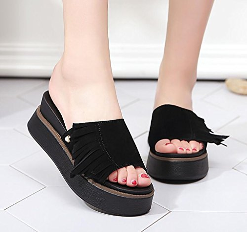 and sandals slippers Wedges women's Fashion slip 40 and sandals Color Flat B slippers Sandals wear summer sandals wild sandals non fashion slippers A and Size EqqHWxn6U4
