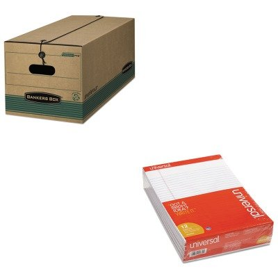 KITFEL00774UNV20630 - Value Kit - Bankers Box Stor/File Extra Strength Storage Box (FEL00774) and Universal Perforated Edge Writing Pad (UNV20630) by Bankers Box
