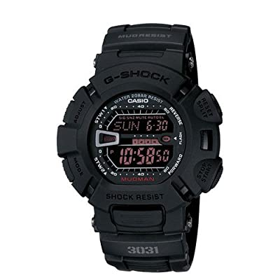 Casio G Shock Digital Dial Black Resin Mens Watch G-9000MS-1