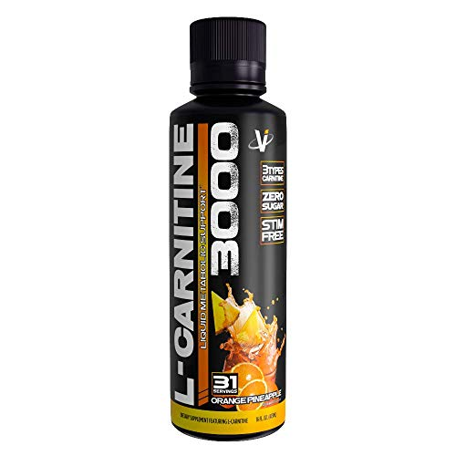 VMI Sports L-Carnitine 3000 Liquid Metabolic Enhancer, Orange Pineapple Flavor, 31 Servings, Stimulant-Free Weight Loss and Metabolism Enhancing, Promotes Calorie and Fat Burning, Increased Energy