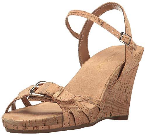 Aerosoles Women's Plush Around Wedge Sandal, Tan, 11 M US