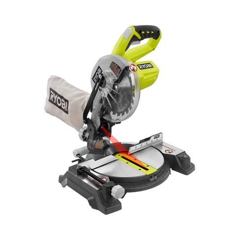 Ryobi ZRP551 ONE Plus 18V Cordless 7-1/4 in. Miter Saw with Laser (Tool Only – Battery and Charger NOT Included) (Renewed)