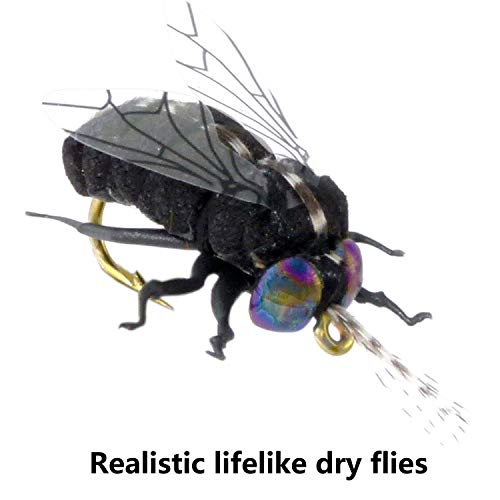 YAZHIDA Realistic Flies Fly Fishing Flies kit - Handmade Dry/Wet/Fly Fishing Lures (Fly Fishing Flies)