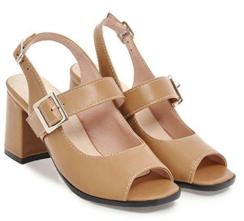 Bout Boucle Chunky Sandales Ouvert Femme Mode Aisun Abricot 6xn1U1