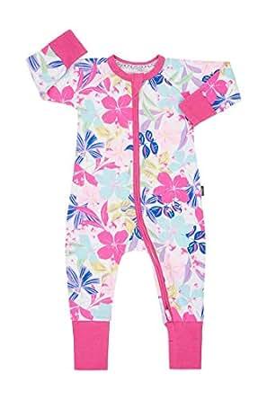Bonds Unisex Baby Cotton Blend Zip Wondersuit Beach Club Floral, 0 (6-12 Months)