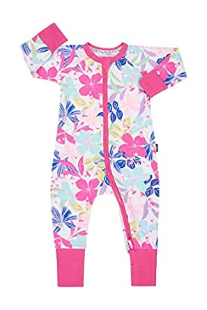 Bonds Unisex Baby Cotton Blend Zip Wondersuit Beach Club Floral, 000 (0-3 Months)
