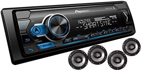 Pioneer MXT- S3166BT デジタルメディアレシーバー + (4) 6.5インチ 2ウェイスピーカーバンドル Pandoraプレミアムトライアル付き