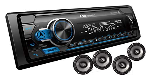 Pioneer MXT- S3166BT Digital Media Receiver + (4) 6.5″ 2 Way Speaker Bundle with Pandora Premium Trial