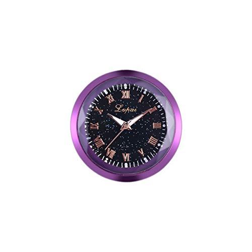 [Mollikar] Wall Clock,Car Decoration Electronic Meter Car Clock Timepiece Auto Interior Ornament Mini Vehicle Dashboard Clock