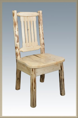 Montana Woodworks MWKSCN Montana Collection Dining Side Chair with Ergonomic Wooden Seat, Ready to ()