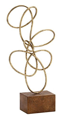 Deco 79 54488 Metal Gold Abstract Sculpture -