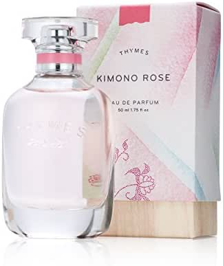 Thymes - Kimono Rose Eau de Parfum - Soft Vanilla Rose Fragrance Perfume - 1.75 oz