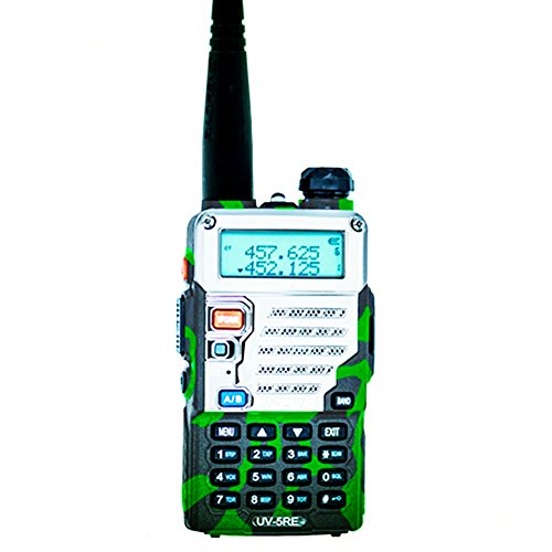 BaoFeng UV-5RE (UV-5R 3rd Gen) 5-Watt Dual Band Two-Way Radio (136-174MHz VHF & 400-520MHz UHF) Includes Full Kit with Large Battery/Blue by flyingus