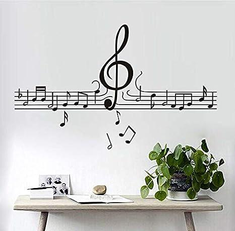 xlei Adesivi Murali Fai da Te Musica Note Musicali Musica ...