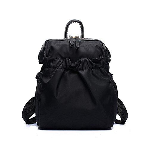 FTSUCQ Womens Fresh Preppy Backpack Travel Daypack Tote School Bags Shoulder Black Satchels