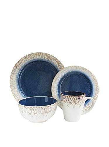 American Atelier 16 Piece Granada Round Dinnerware Set, - Dishes Dinnerware Sets Unique