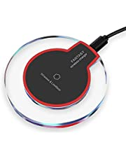 [2018 Upgraded] Fast Wireless Charger, Qi Wireless Charger Pad Compatible Apple iPhone X iPhone 8/8 Plus Samsung Note 8 S8/S8 Plus/S7/S7 Edge/S6 Nokia Universal Wireless Charger Stand (Red&Black)