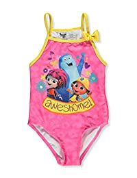 Beat Bugs Girls' 1-Piece Swimsuit